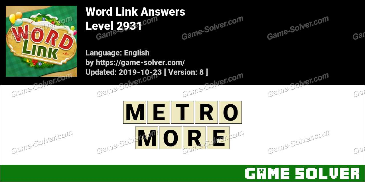 Word Link Level 2931 Answers