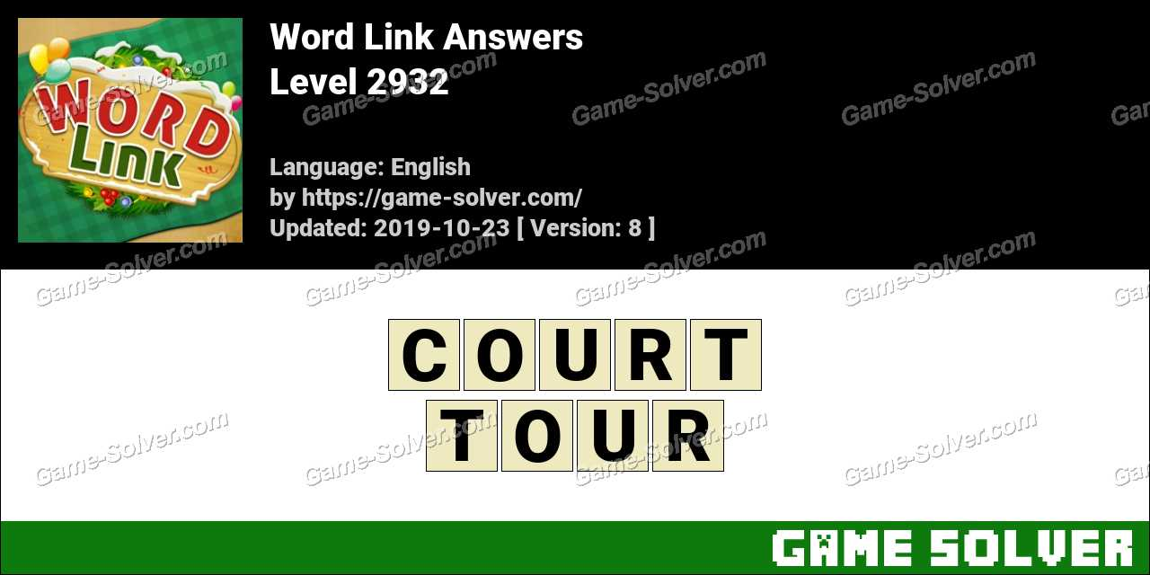 Word Link Level 2932 Answers