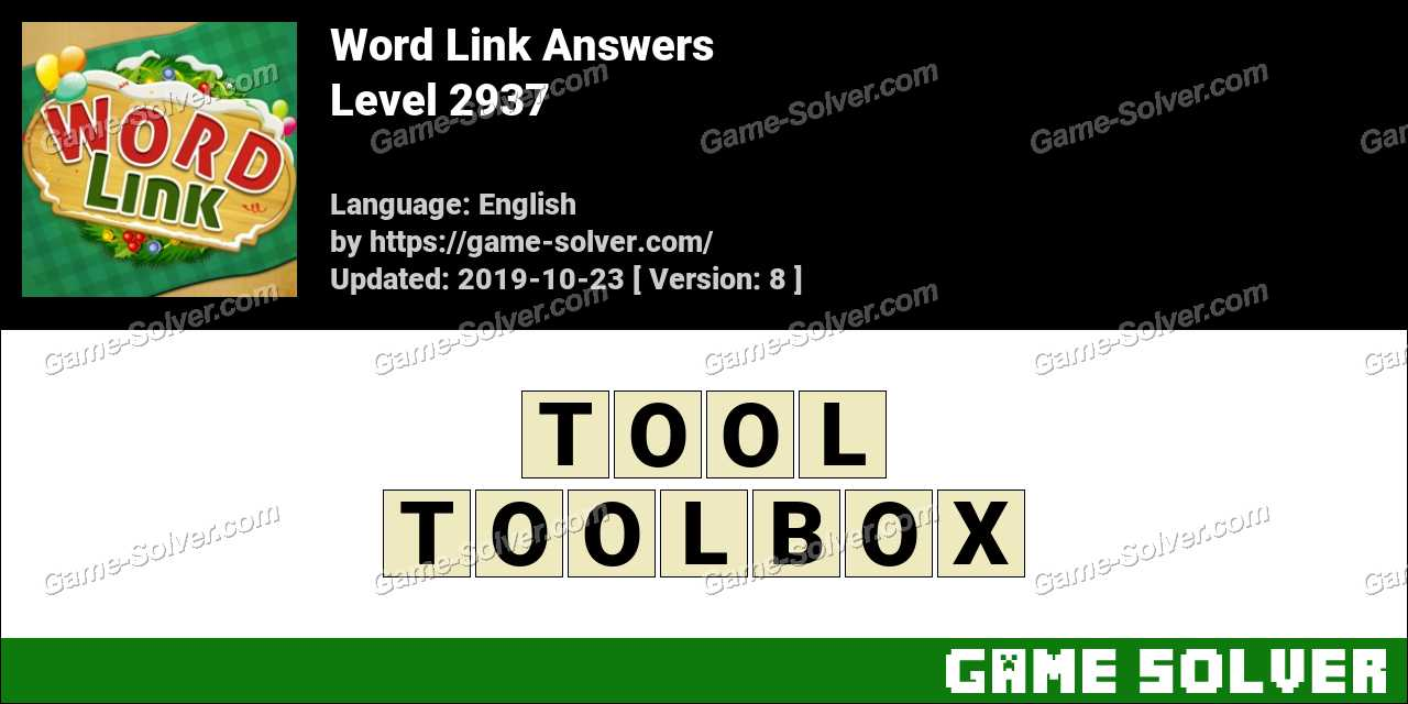 Word Link Level 2937 Answers