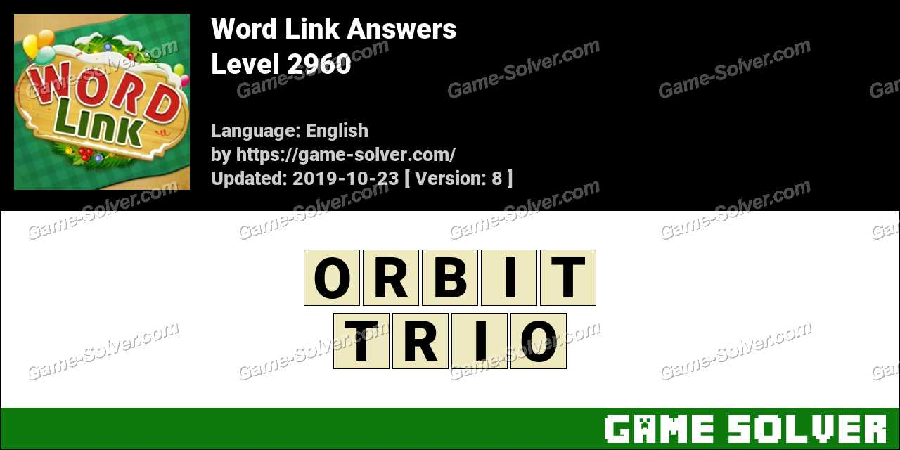Word Link Level 2960 Answers