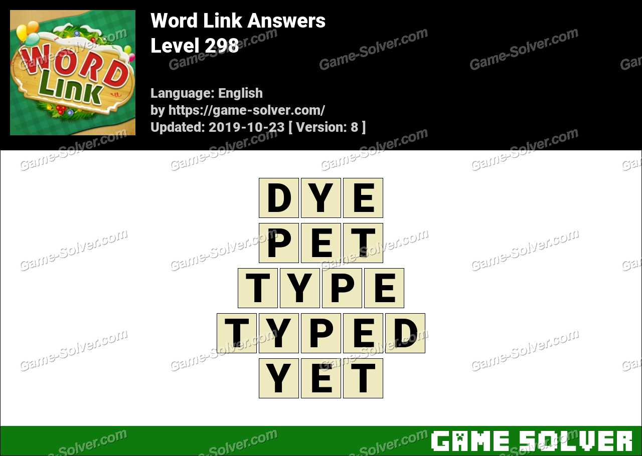 Word Link Level 298 Answers
