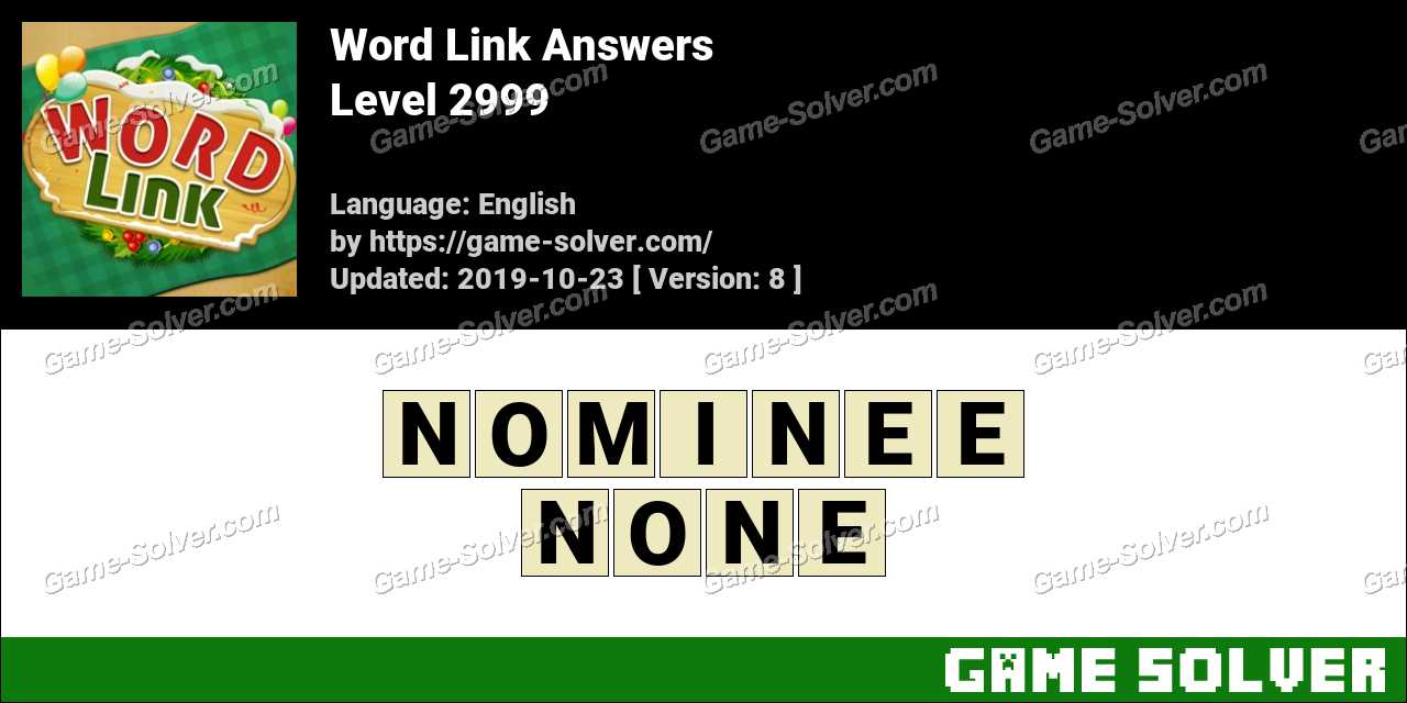 Word Link Level 2999 Answers
