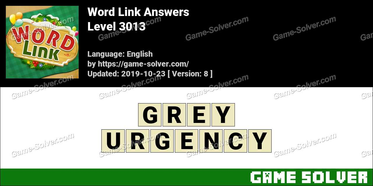 Word Link Level 3013 Answers