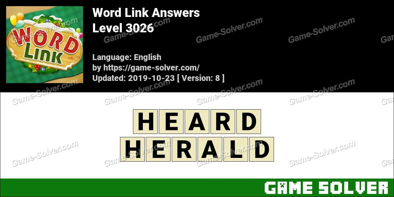 Word Link Level 3026 Answers