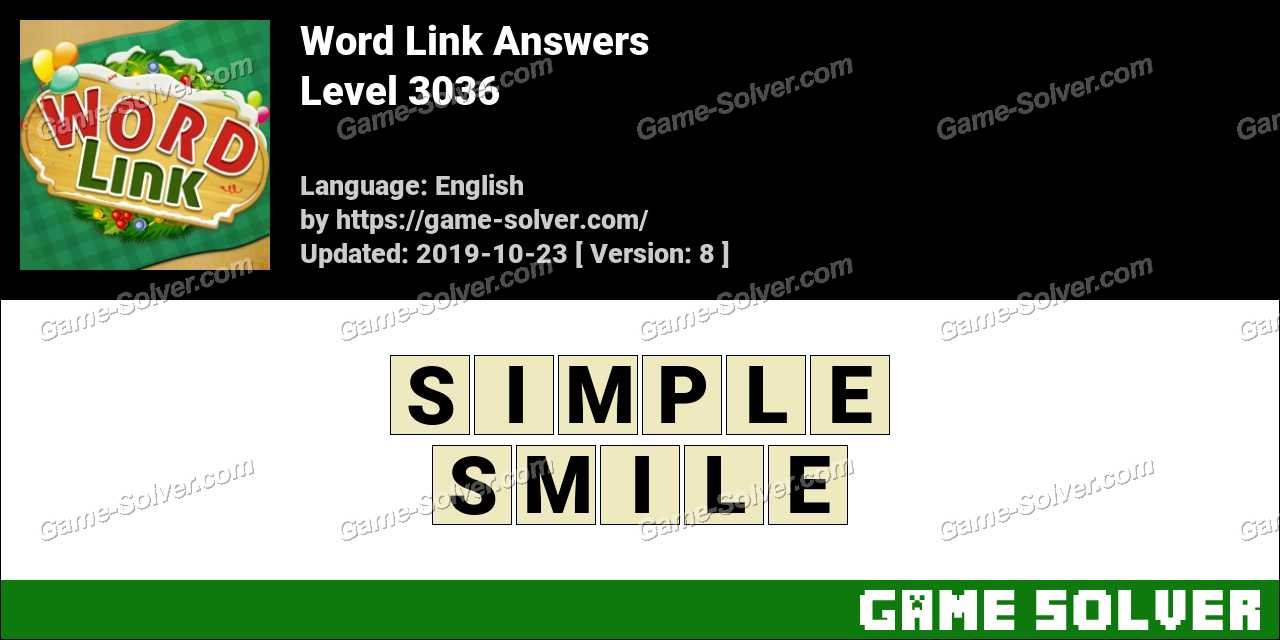 Word Link Level 3036 Answers