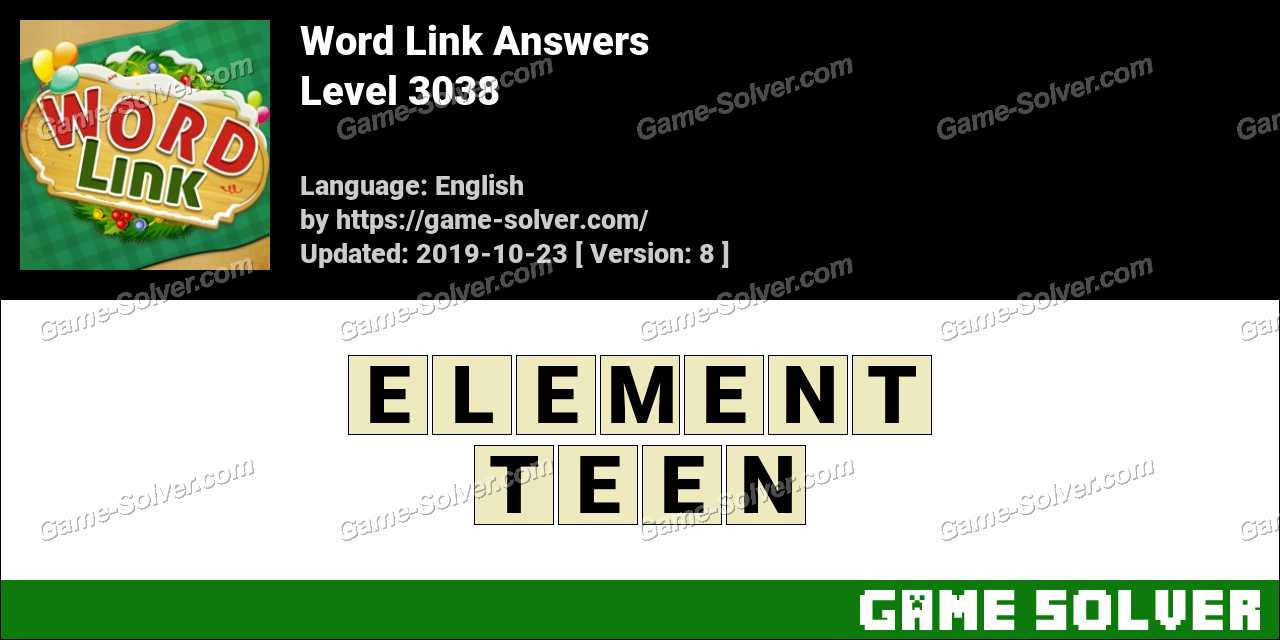 Word Link Level 3038 Answers