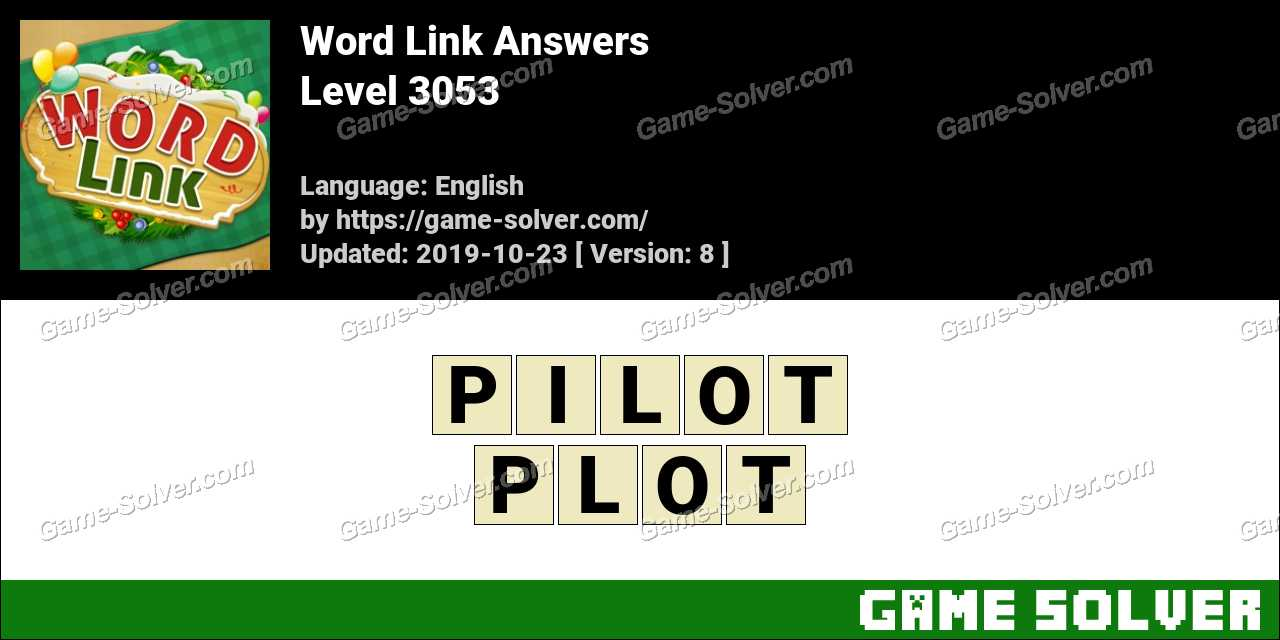 Word Link Level 3053 Answers