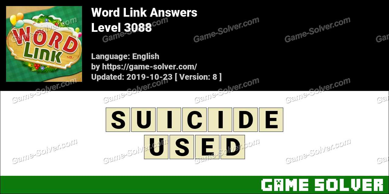 Word Link Level 3088 Answers