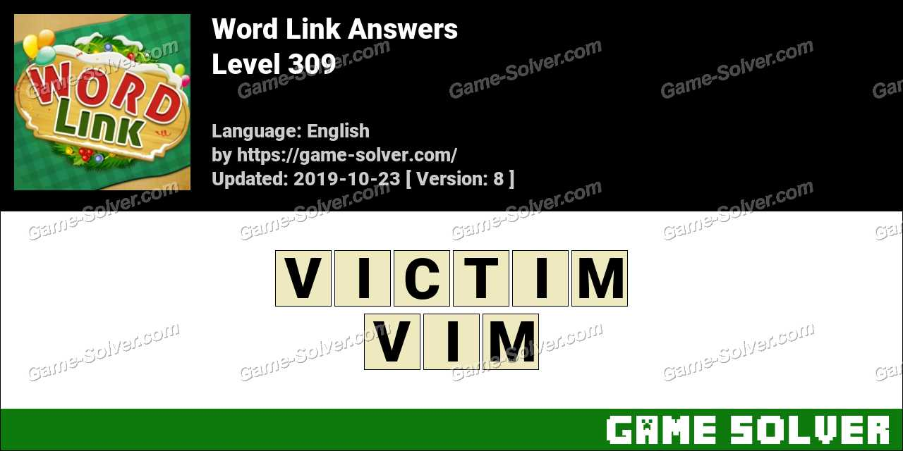 Word Link Level 309 Answers