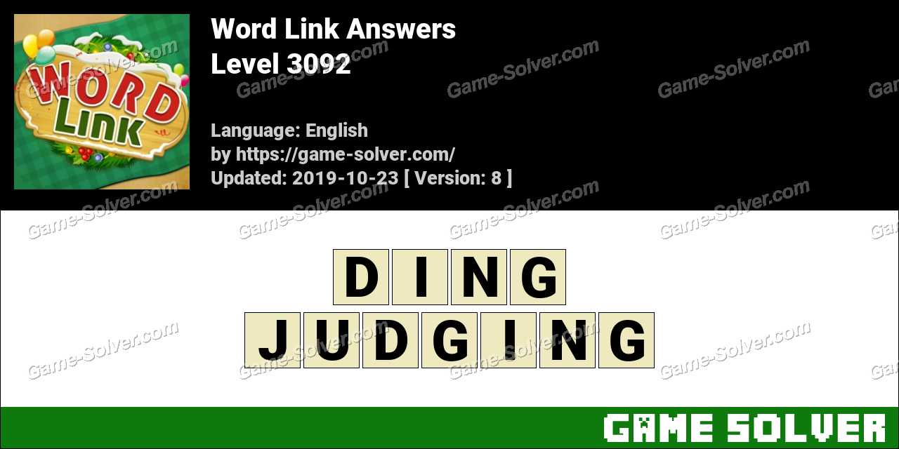 Word Link Level 3092 Answers