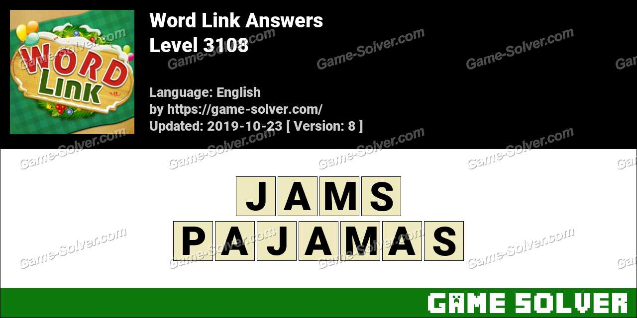 Word Link Level 3108 Answers