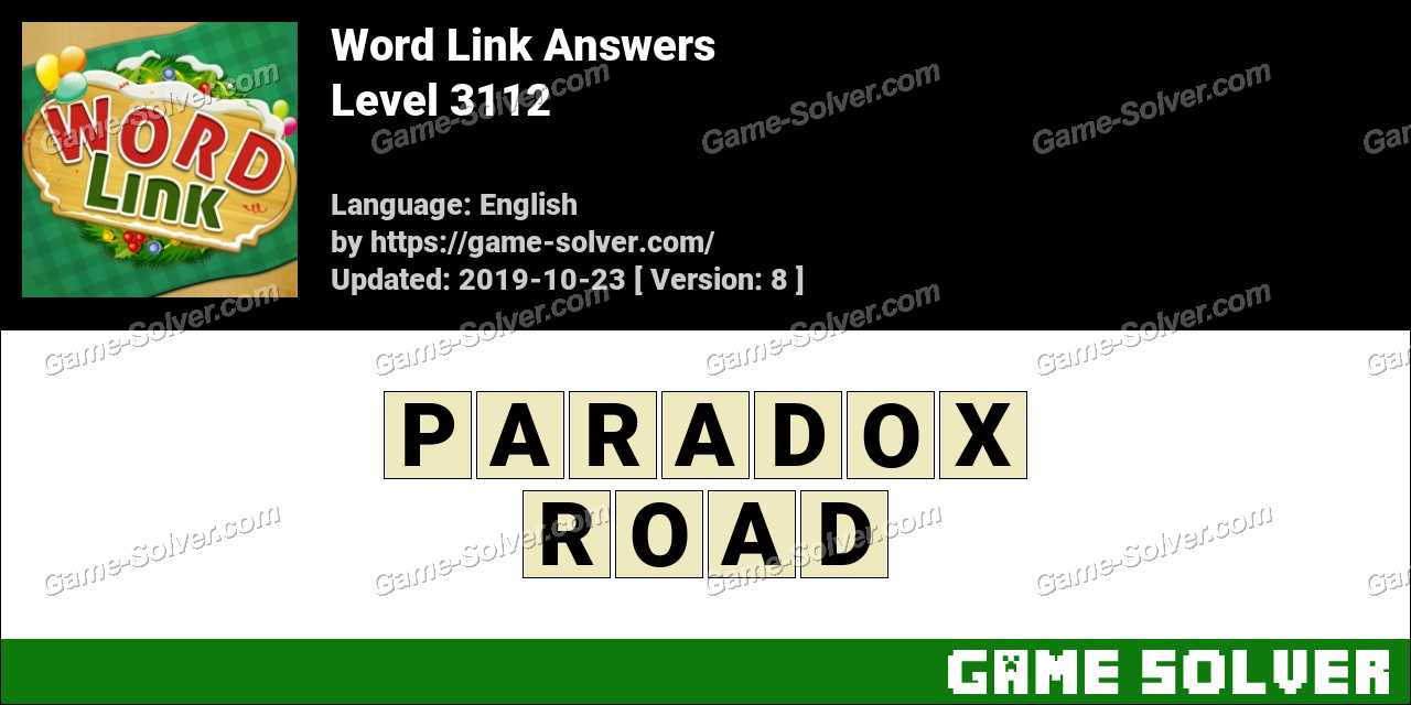 Word Link Level 3112 Answers