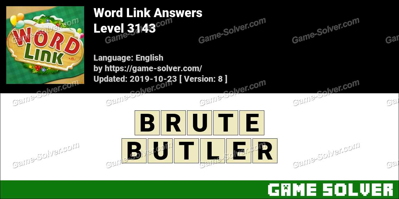 Word Link Level 3143 Answers