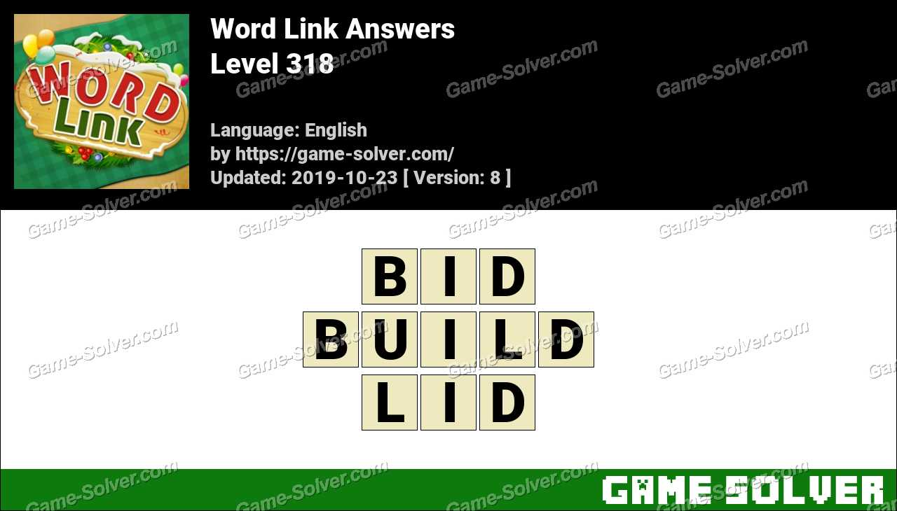 Word Link Level 318 Answers