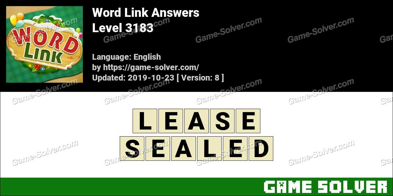 Word Link Level 3183 Answers