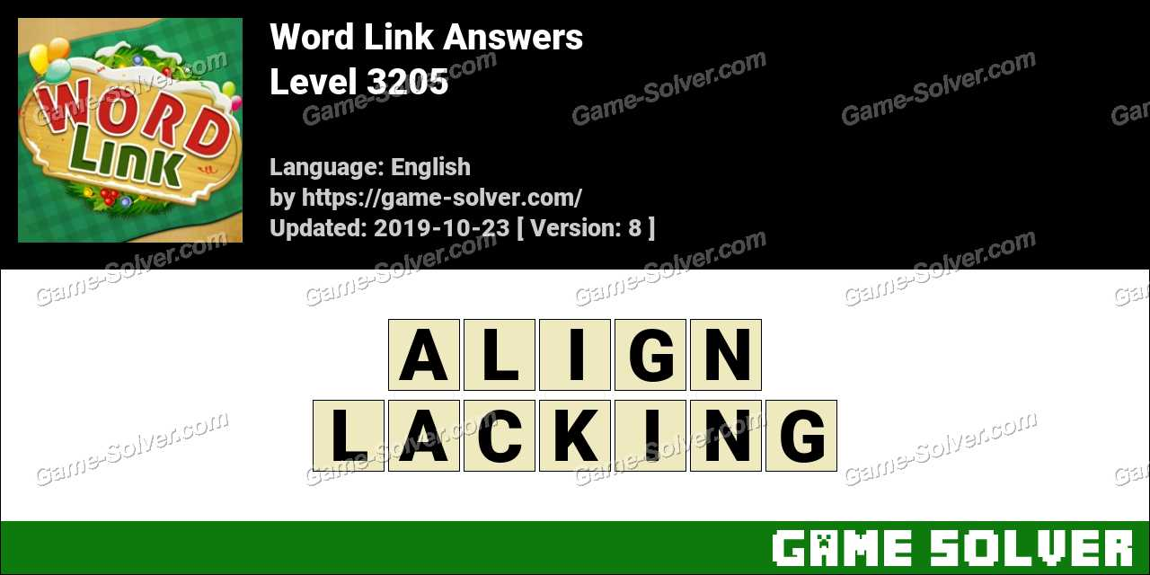 Word Link Level 3205 Answers