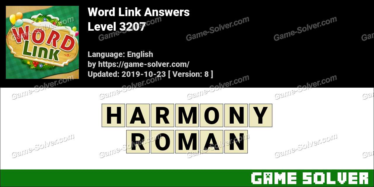 Word Link Level 3207 Answers