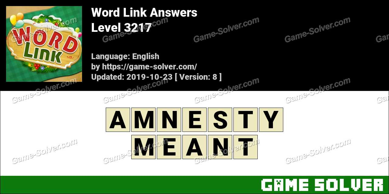 Word Link Level 3217 Answers