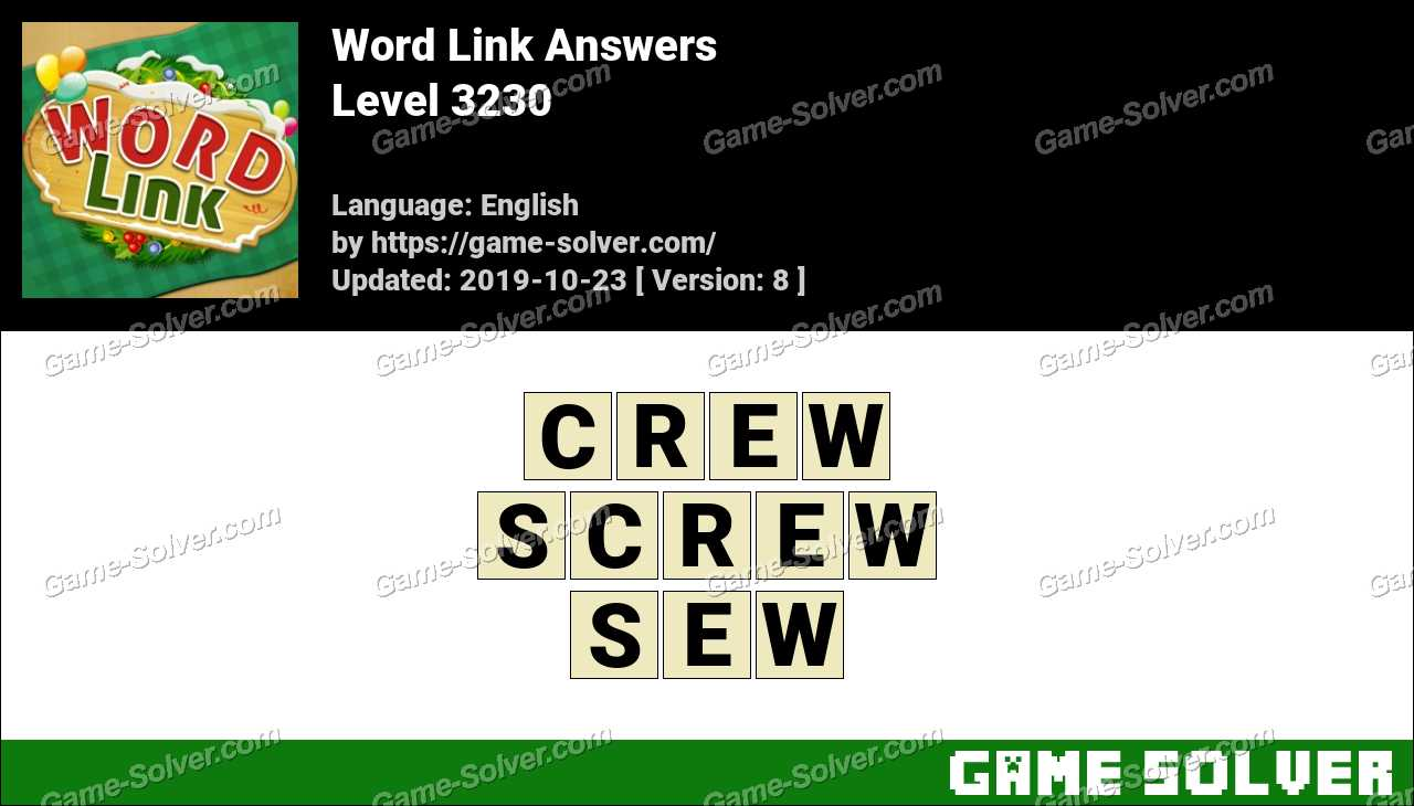 Word Link Level 3230 Answers