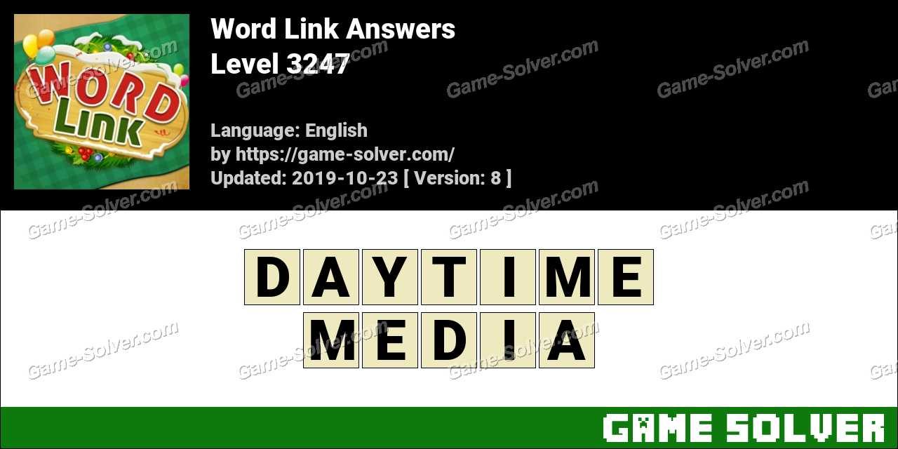 Word Link Level 3247 Answers
