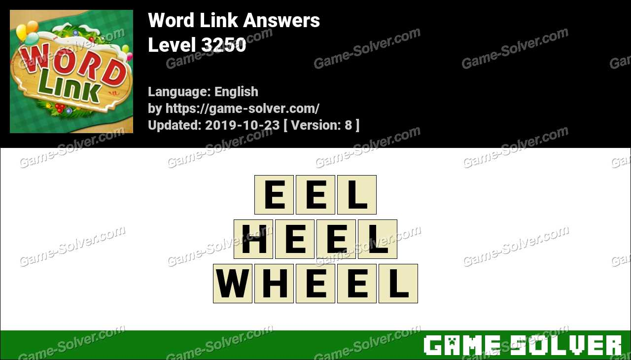 Word Link Level 3250 Answers
