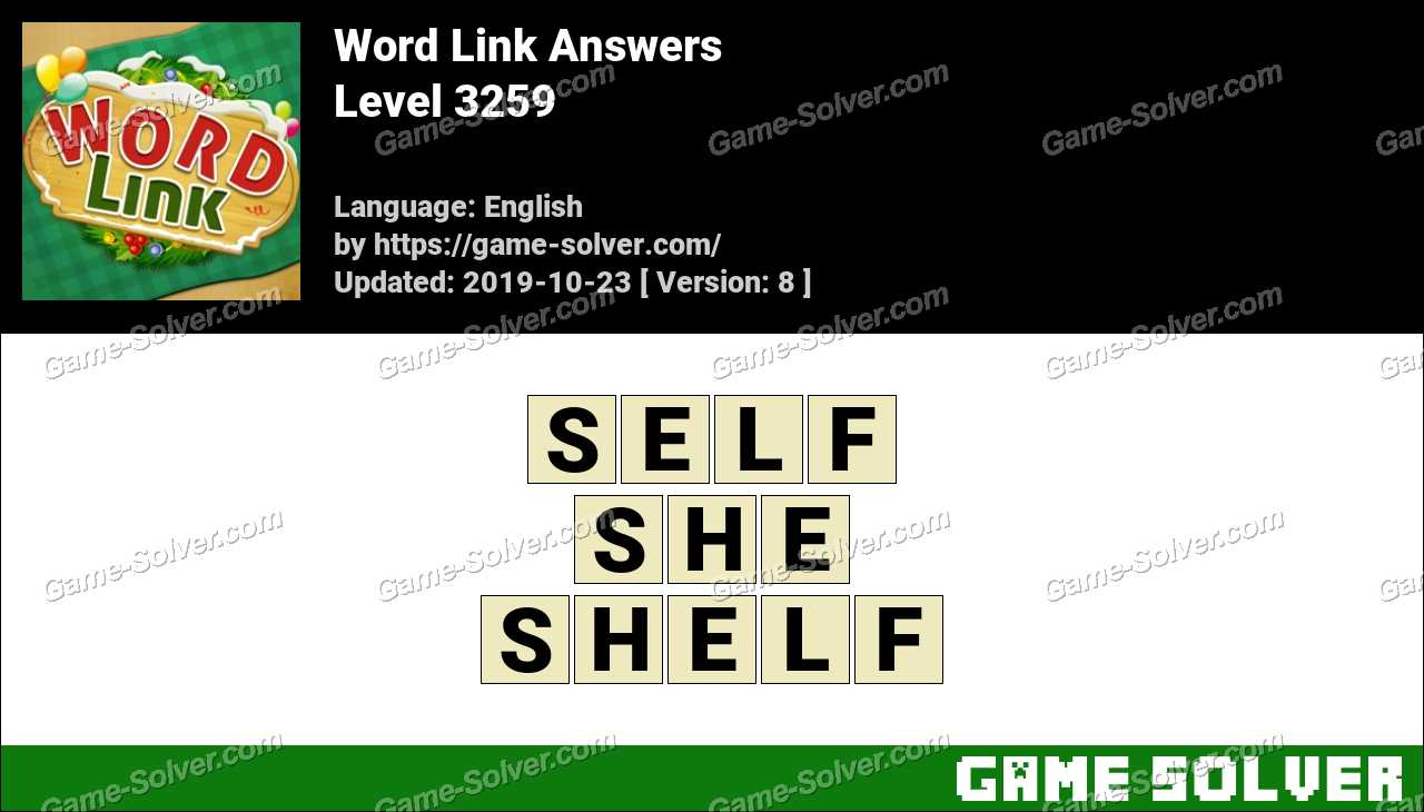 Word Link Level 3259 Answers
