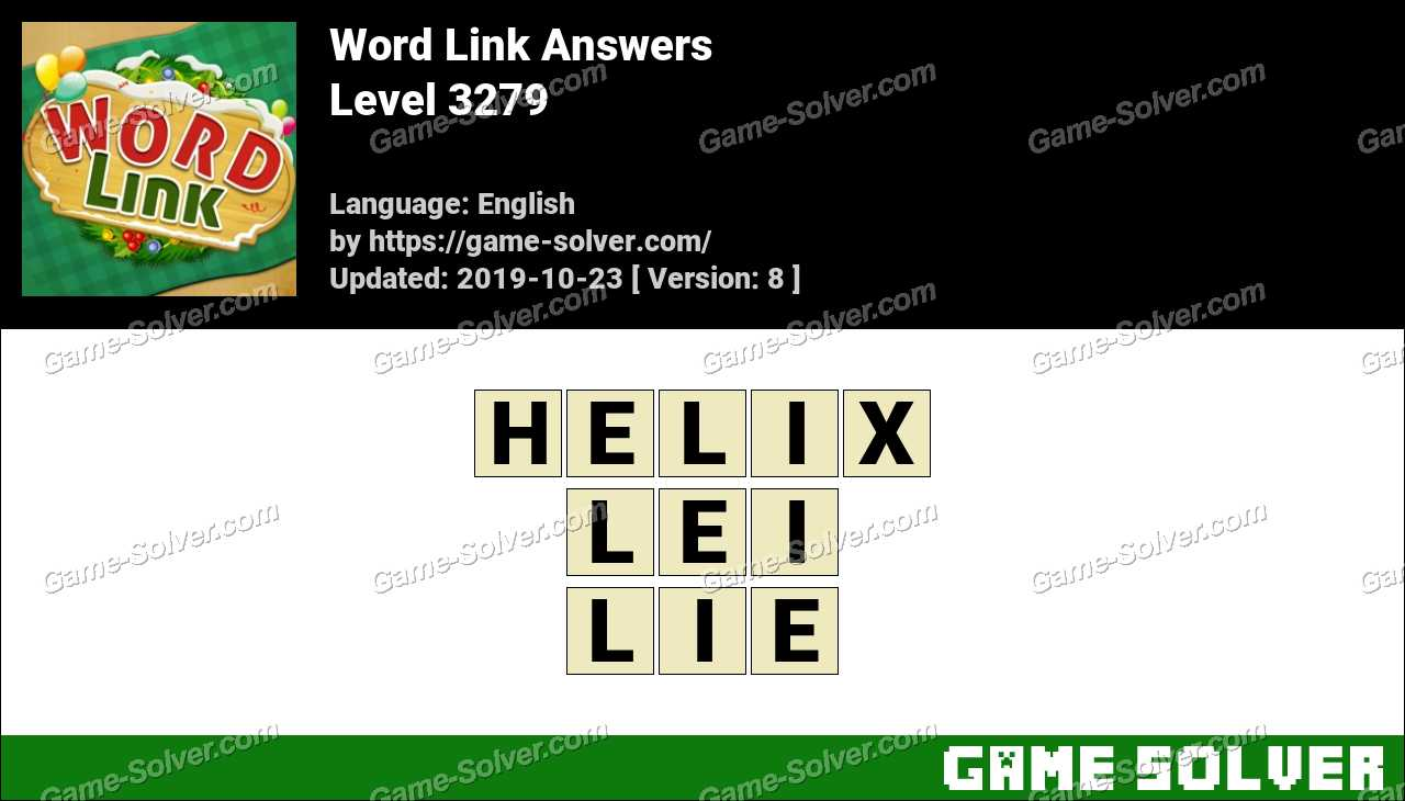 Word Link Level 3279 Answers