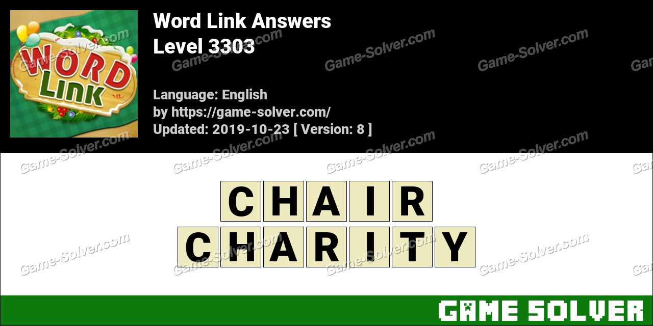 Word Link Level 3303 Answers