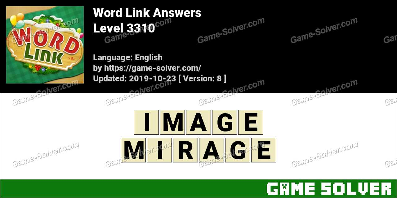 Word Link Level 3310 Answers