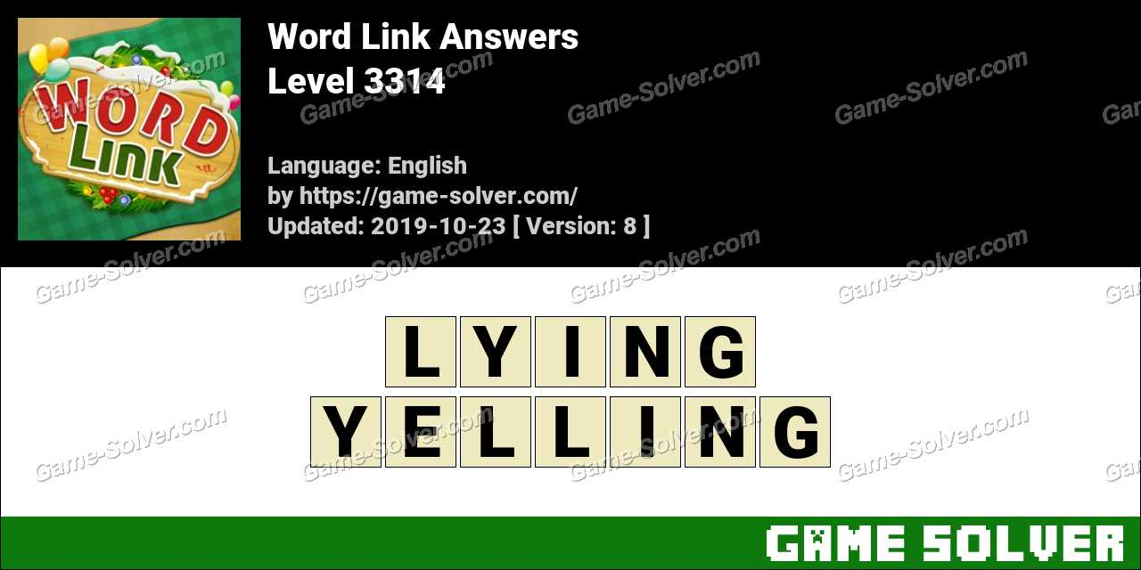 Word Link Level 3314 Answers