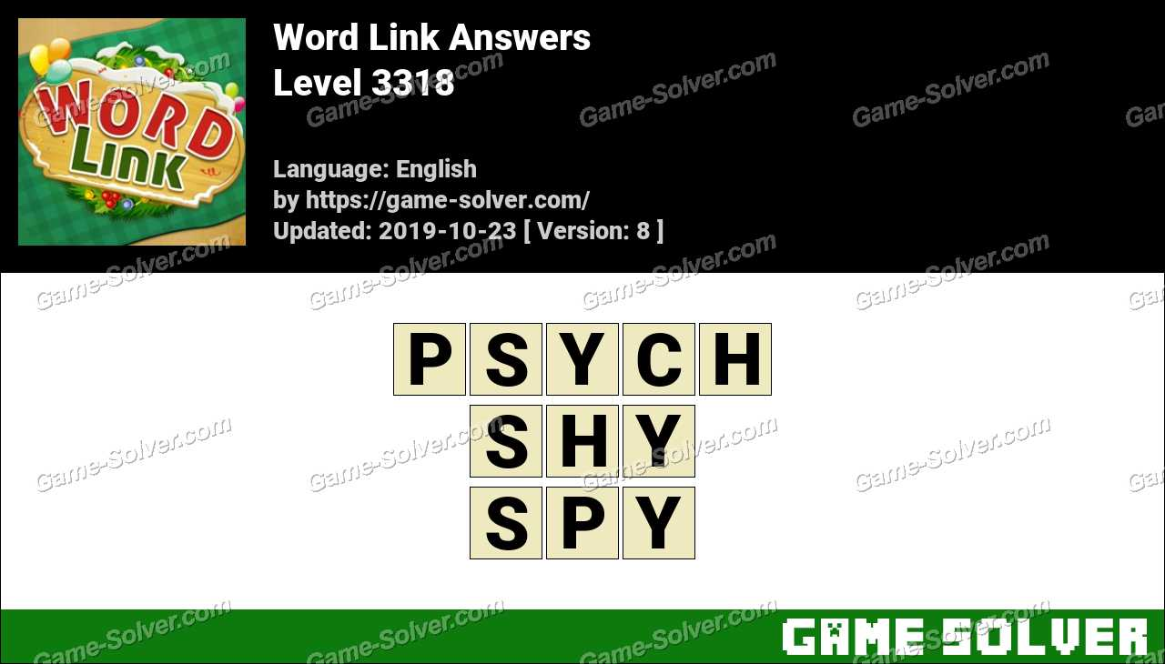 Word Link Level 3318 Answers