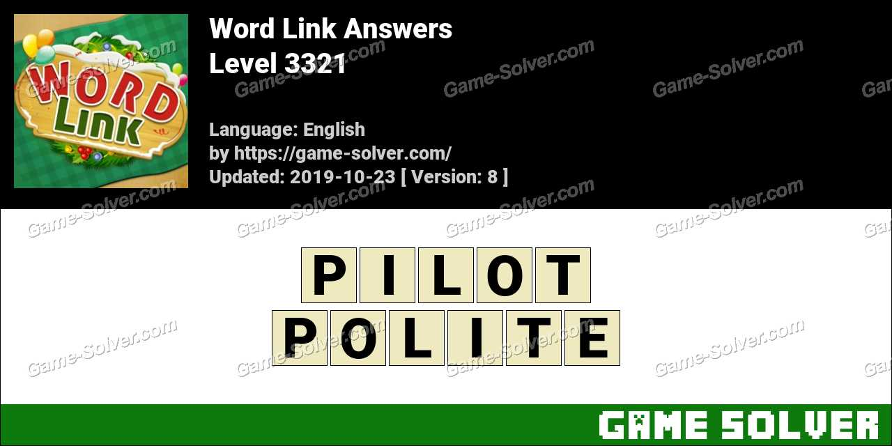Word Link Level 3321 Answers