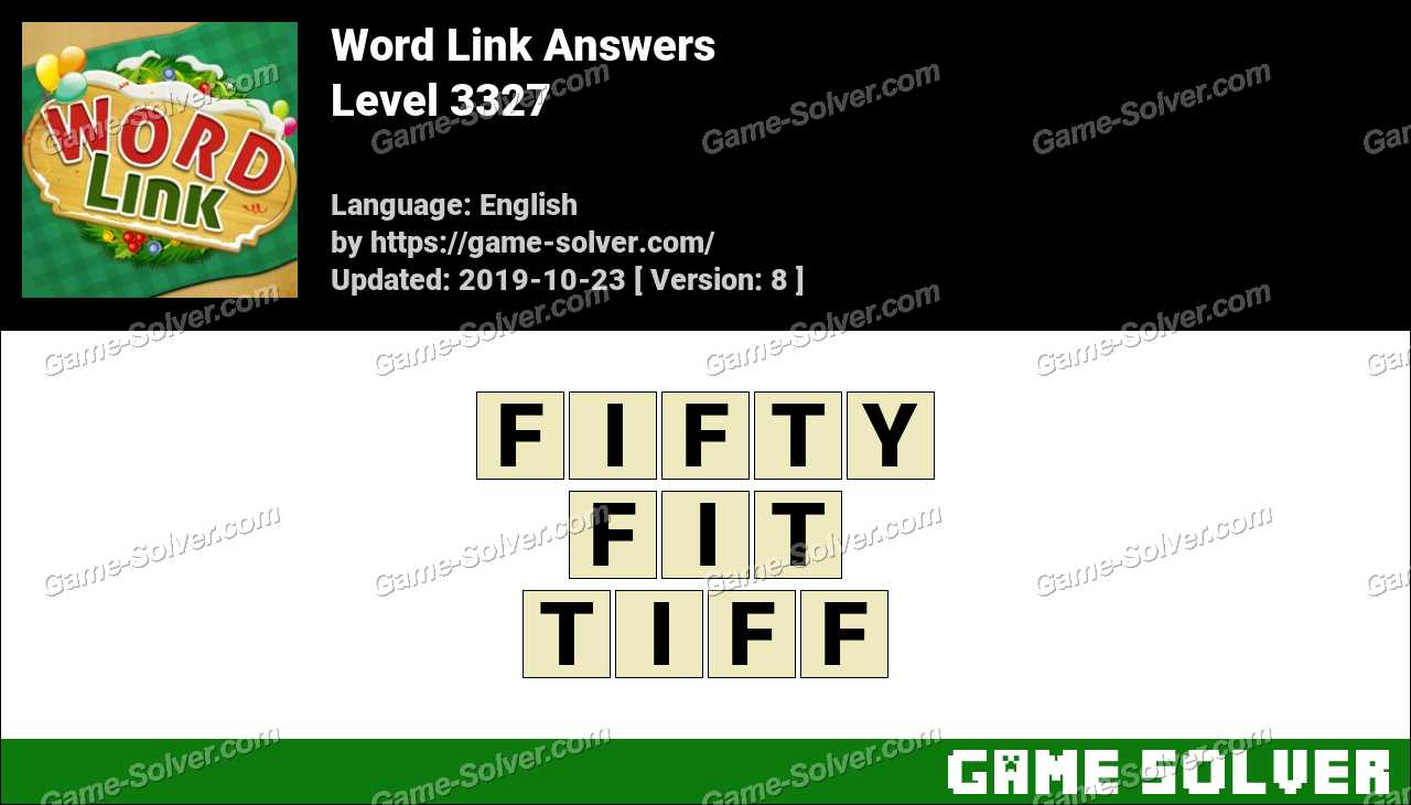 Word Link Level 3327 Answers
