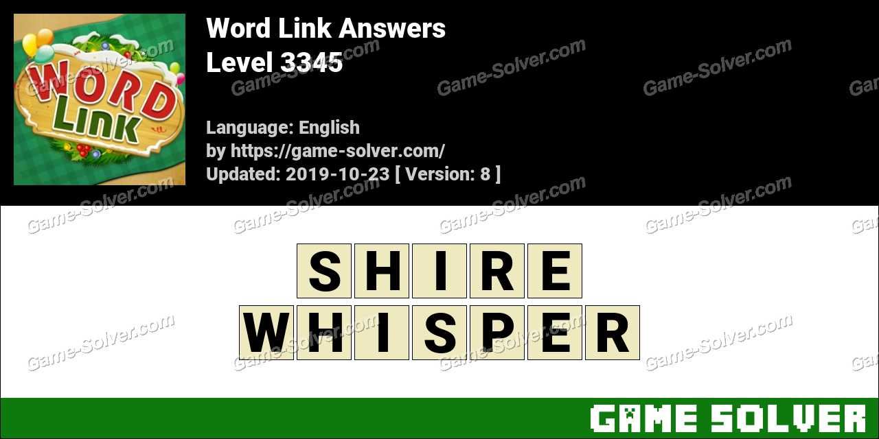 Word Link Level 3345 Answers