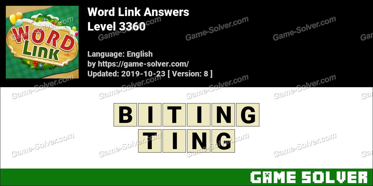 Word Link Level 3360 Answers
