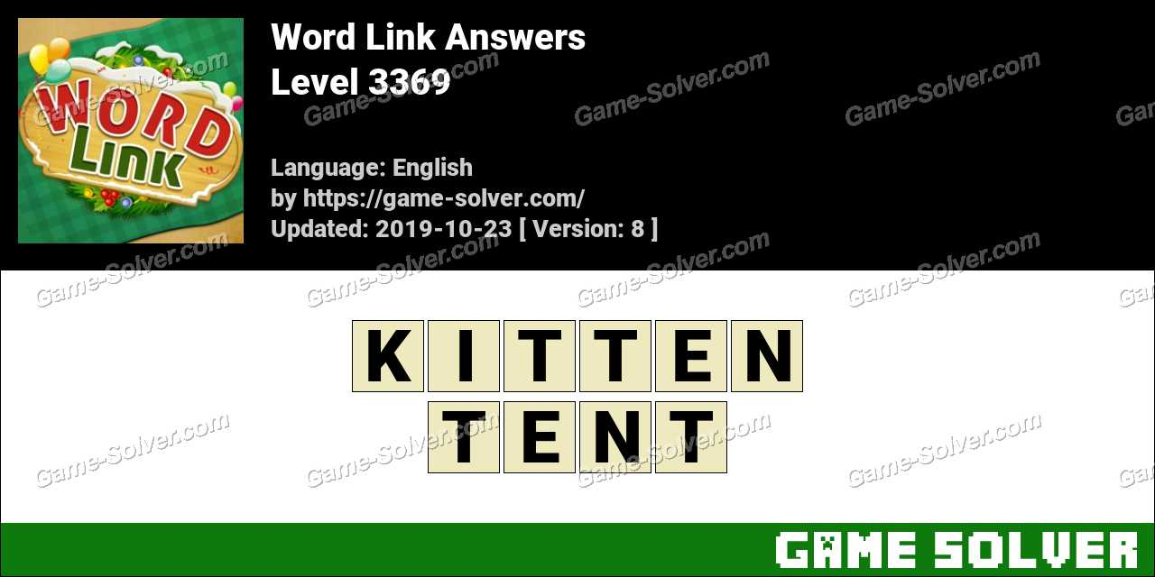 Word Link Level 3369 Answers