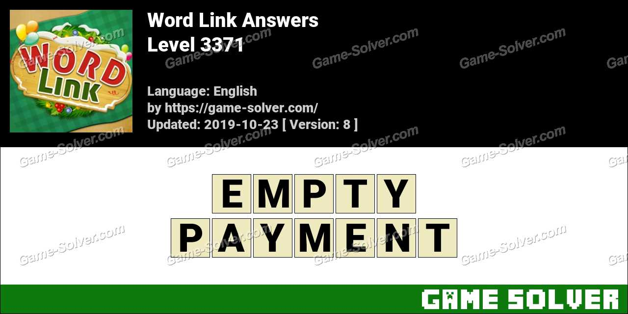 Word Link Level 3371 Answers