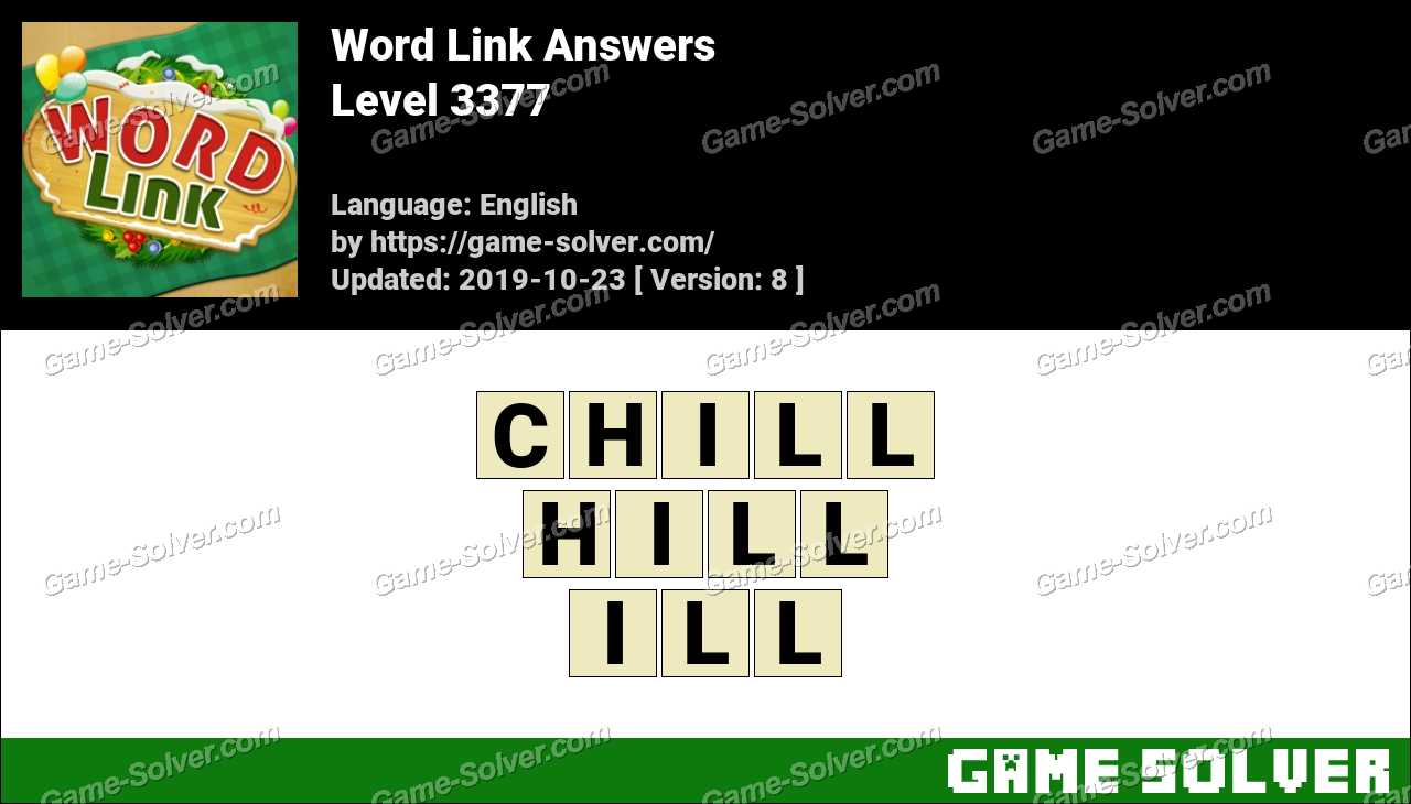 Word Link Level 3377 Answers