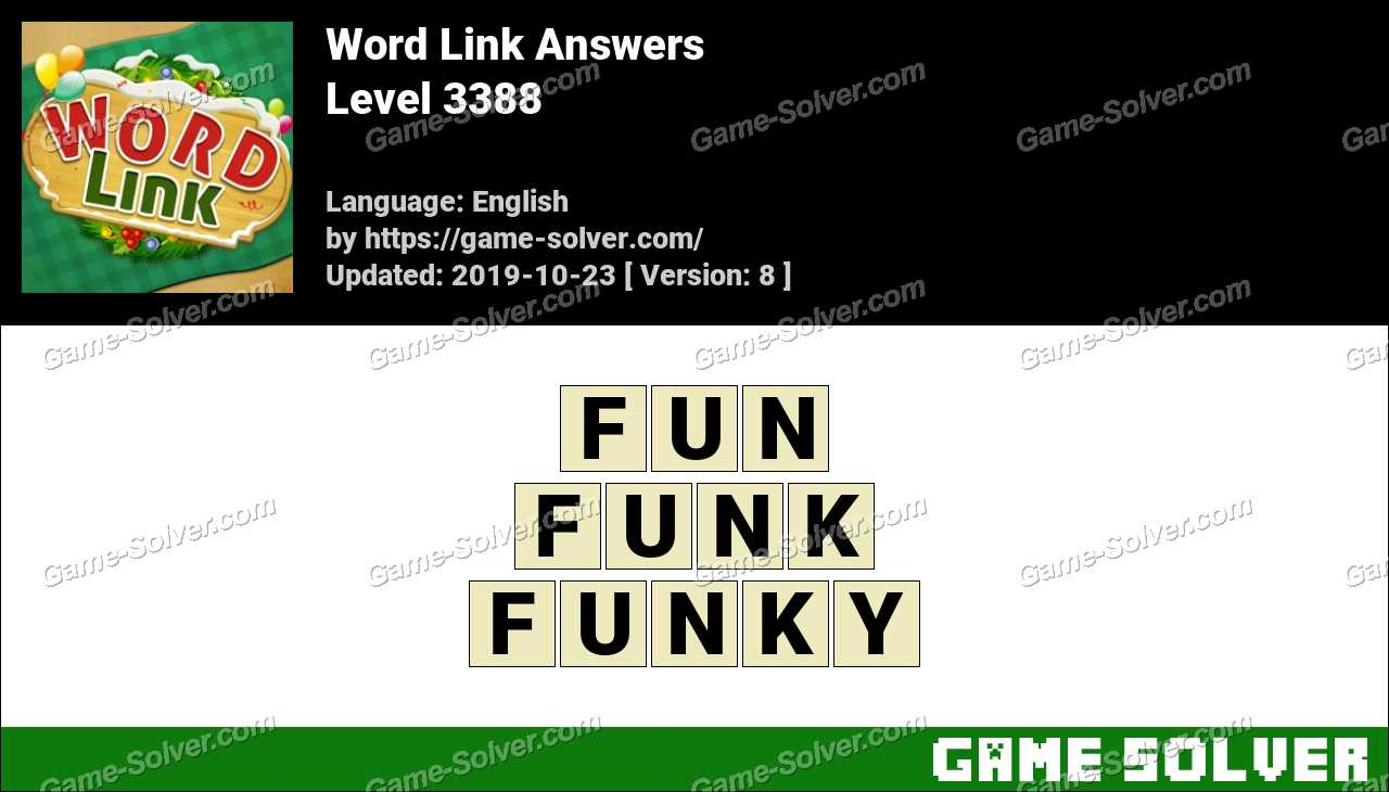 Word Link Level 3388 Answers