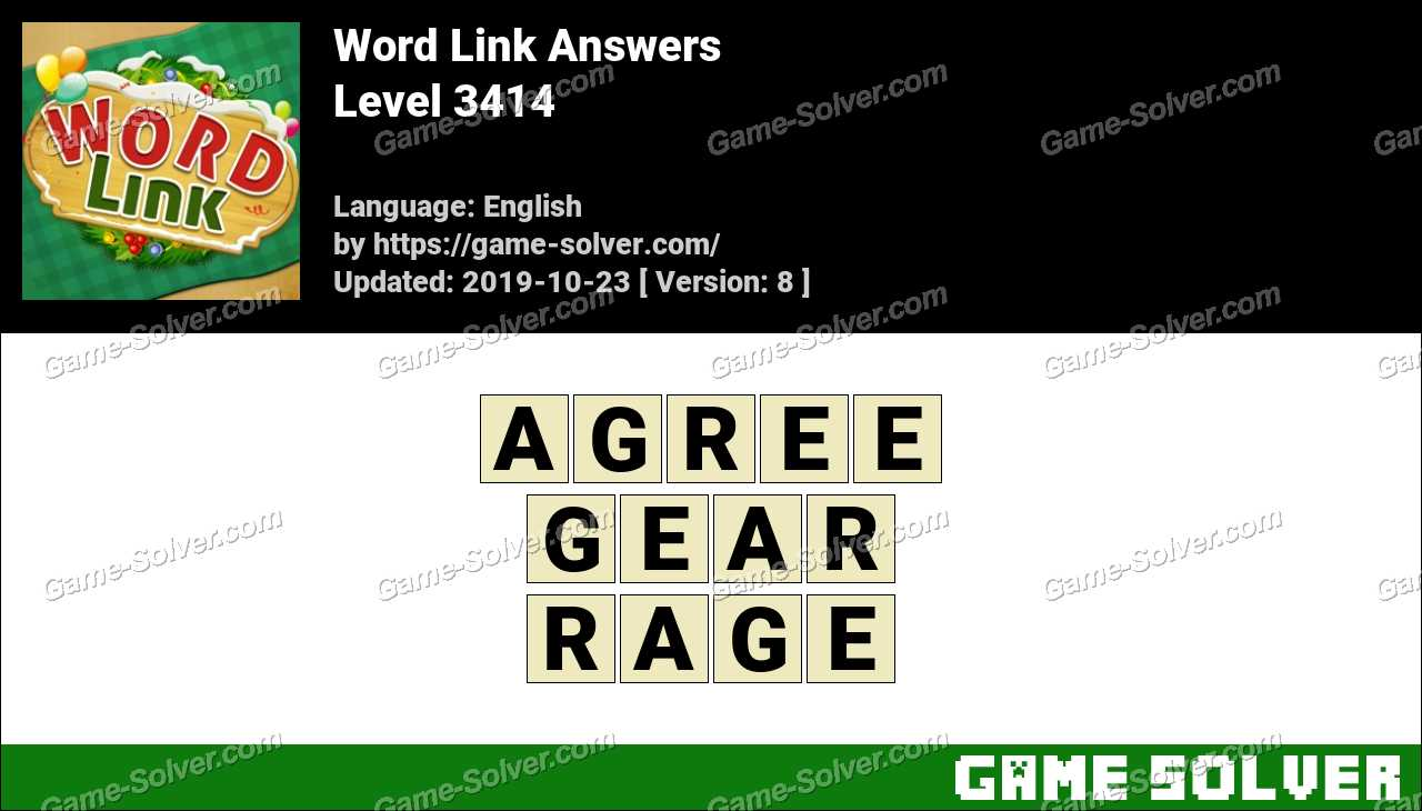 Word Link Level 3414 Answers
