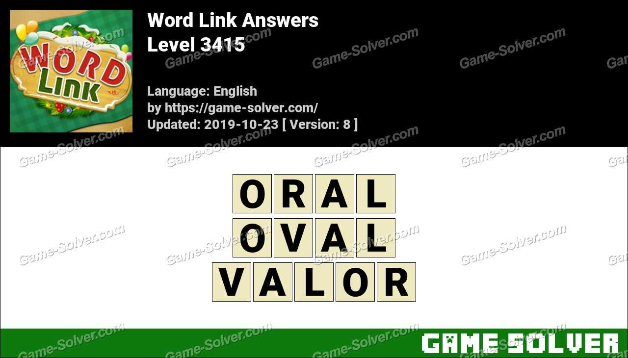 Word Link Level 3415 Answers
