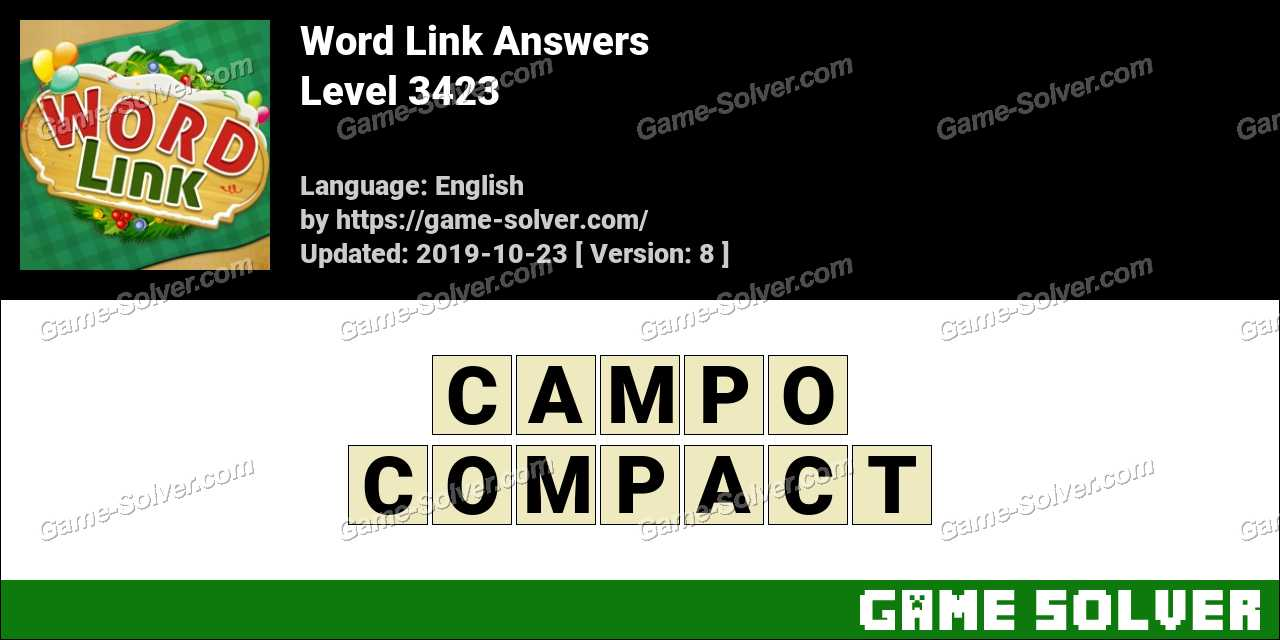 Word Link Level 3423 Answers