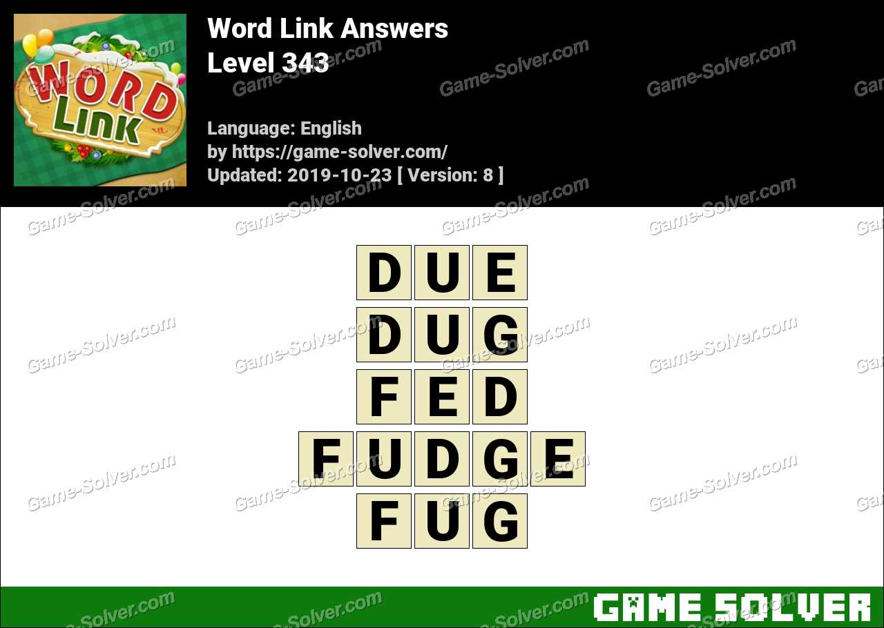 Word Link Level 343 Answers