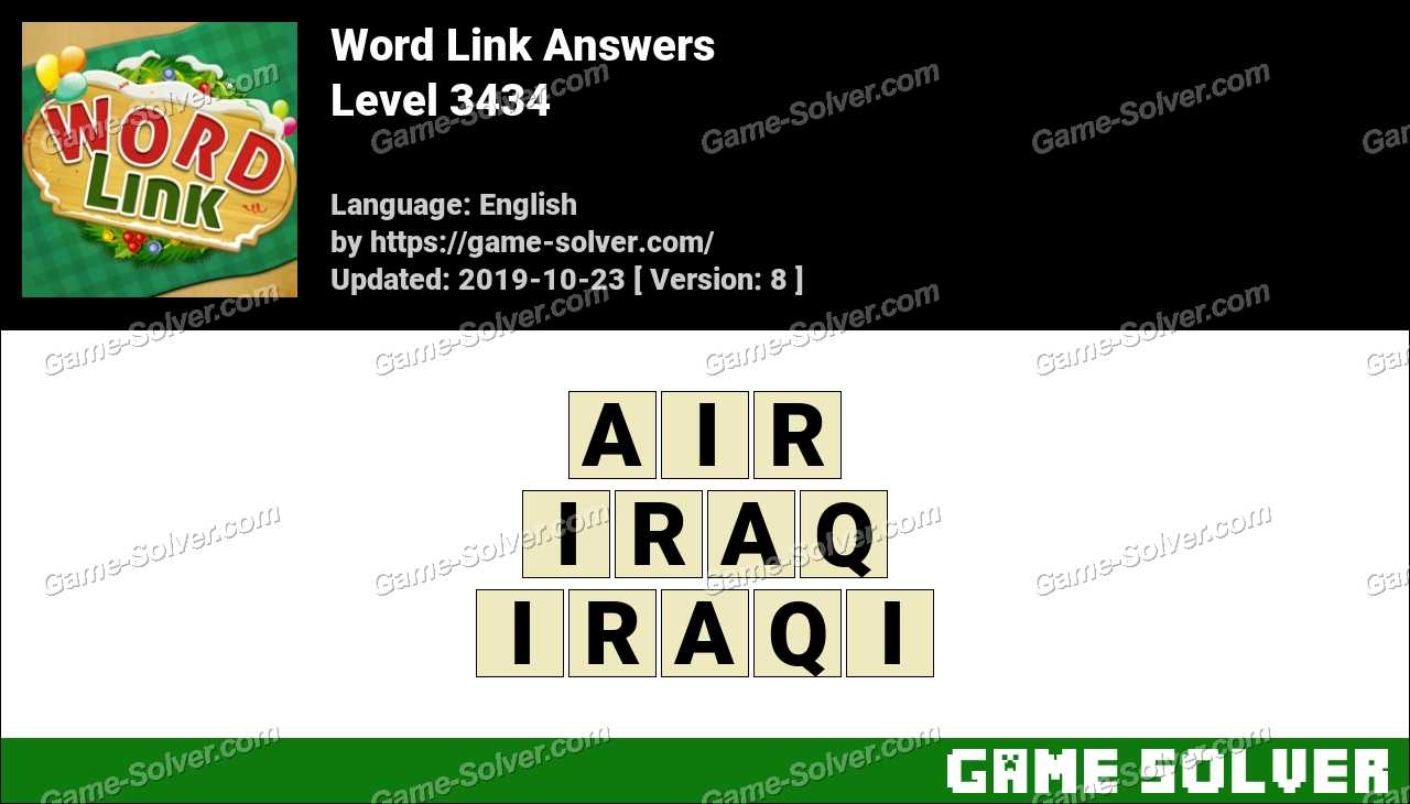 Word Link Level 3434 Answers