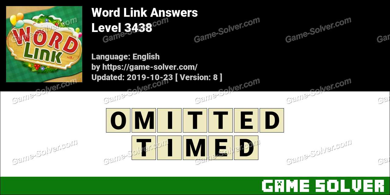 Word Link Level 3438 Answers