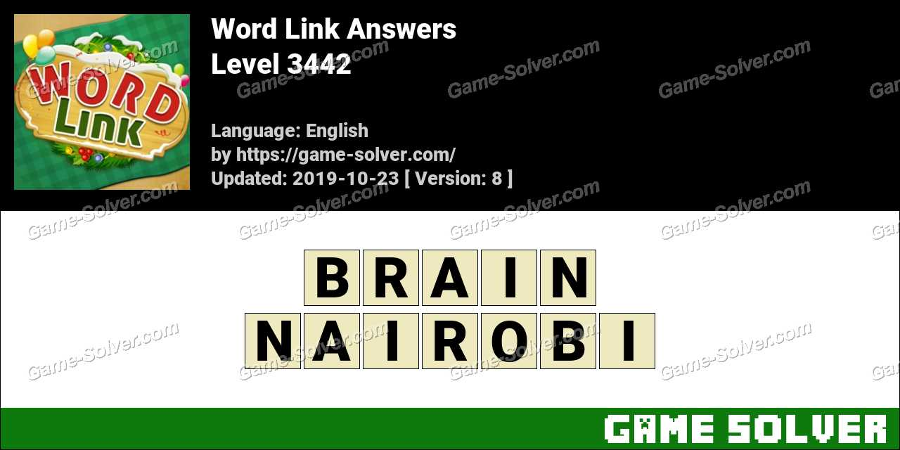 Word Link Level 3442 Answers