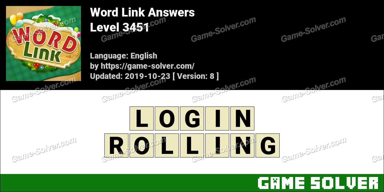 Word Link Level 3451 Answers