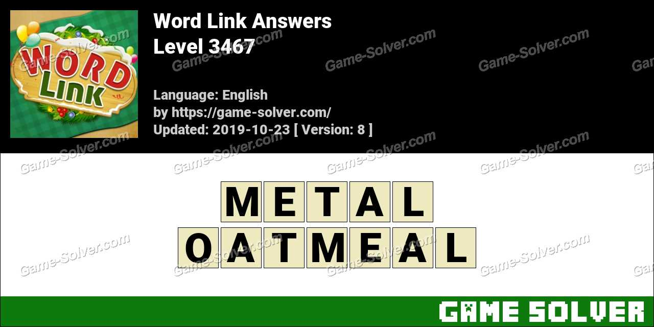 Word Link Level 3467 Answers