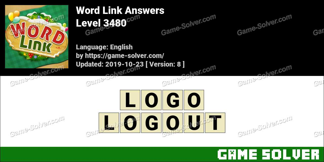 Word Link Level 3480 Answers
