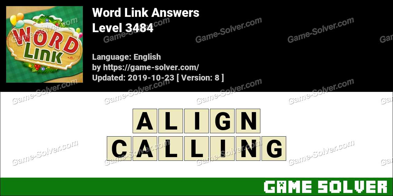 Word Link Level 3484 Answers